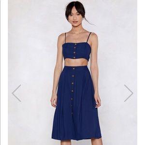 NastyGal Let's stick together crop top & Skirt Set